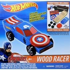 Hot Wheels Wood Racer - Captain America